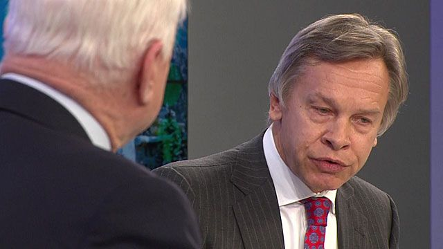 US senator John McCain and Russian parliament member, Alexei Pushkov