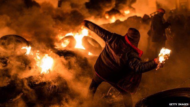 Protests Continue In Kiev