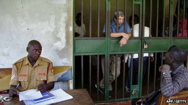 Uganda gay sex case Briton Bernard Randall returns home