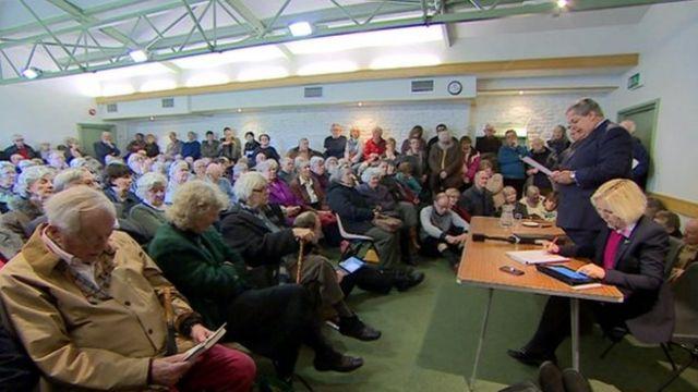 Public meeting in Wells