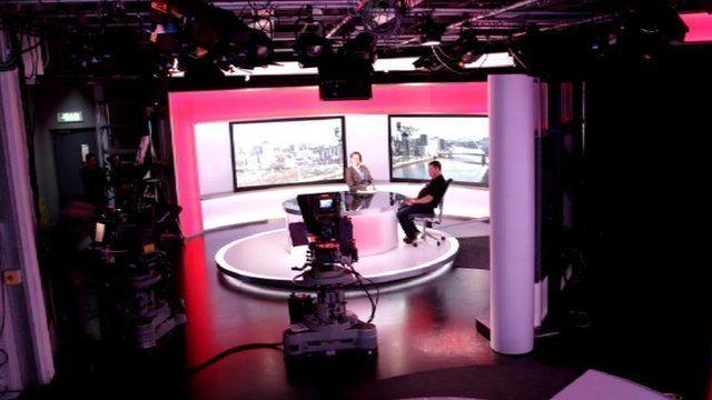 Reporting Scotland studio