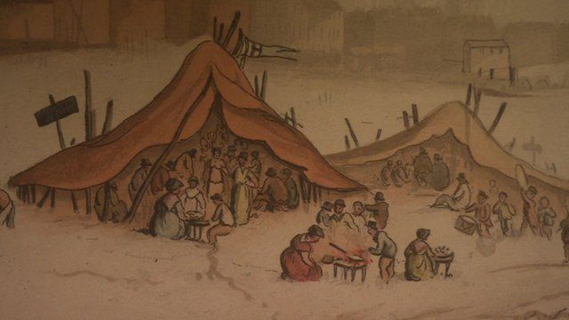 A painting of the Frost Fair