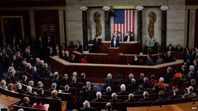 President Obama addressing Congress