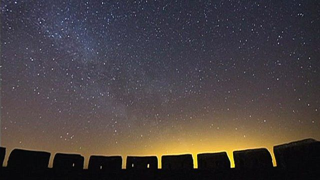 Stargazing from Fort Island