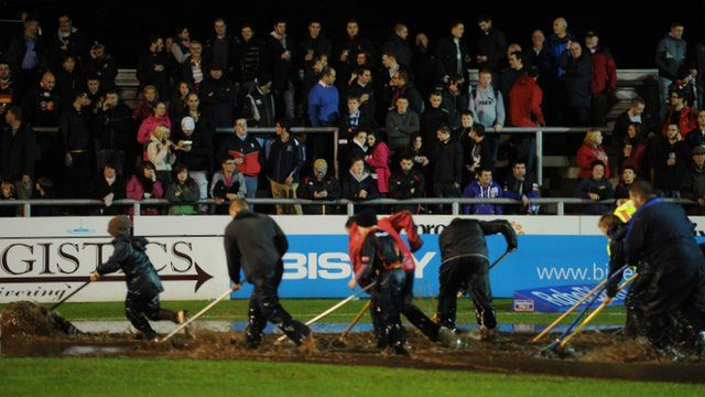 Rodney Parade has suffered with waterlogging in the past