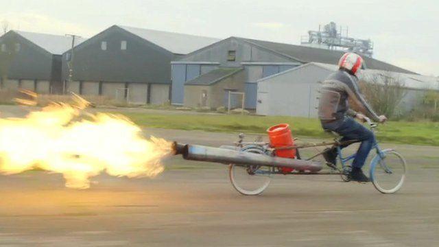 Inventor Colin Furze on his jet bike
