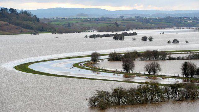 Flooded fields around River Tone