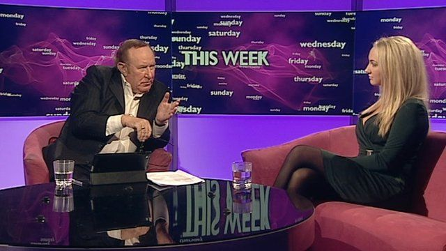 Andrew Neil and Leah Totton