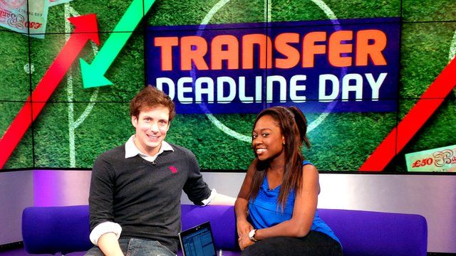 Ayshah Tull in front of a Transfer Deadline Day graphic