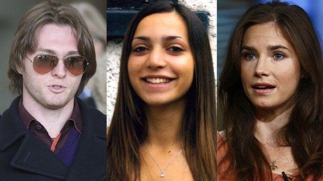 Raffaele Sollecito, Meredith Kercher and Amanda Knox
