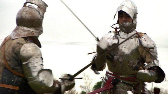 Members of the Tewkesbury Battlefield Society