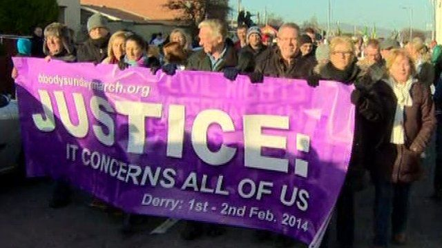 Bloody Sunday commemoration parade