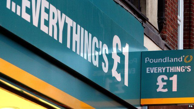 Poundland shop sign