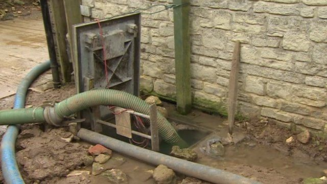 Sewage pumps have been working round-the-clock in Caulcott