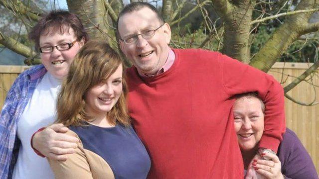 Steve Evans and family