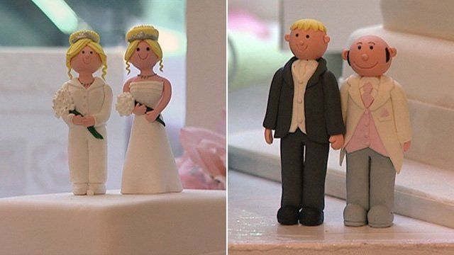 Same-sex wedding figurines