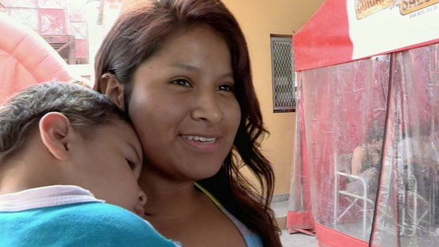 Palmeira, 15, and her young son