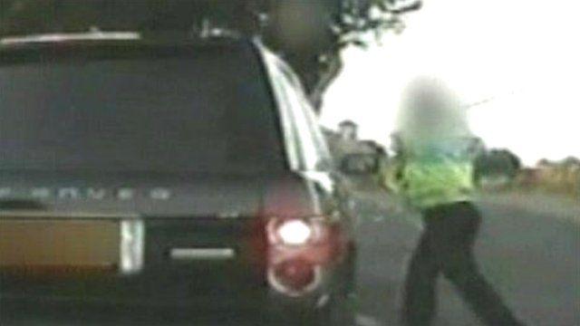 Policeman stops pensioner