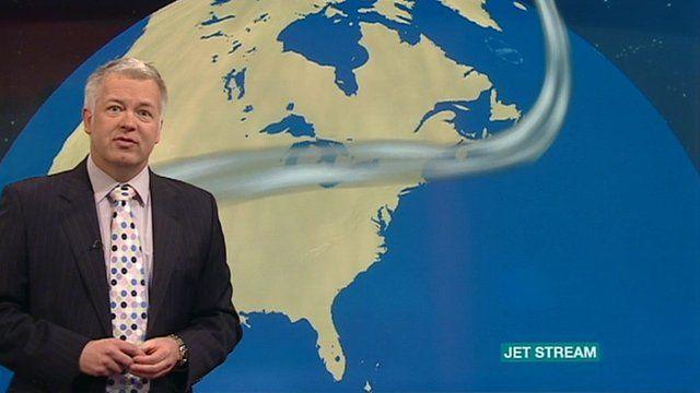 Derek Brockway presenting the weather