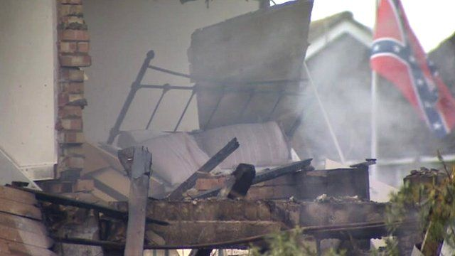 Scene of Clacton house explosion