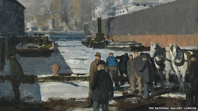 George Bellows's Men of the Docks