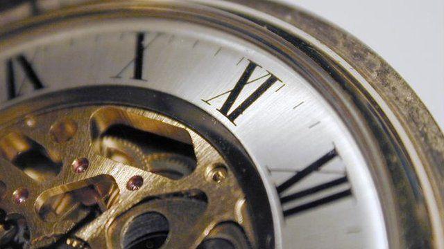 A clock face