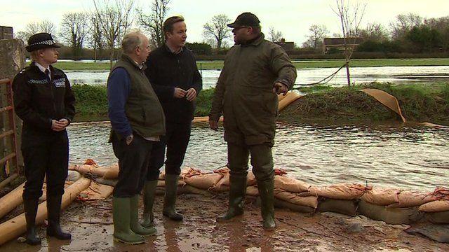 David Cameron with farmer Tony Davy