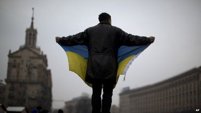 Ukrainian protester in Kiev
