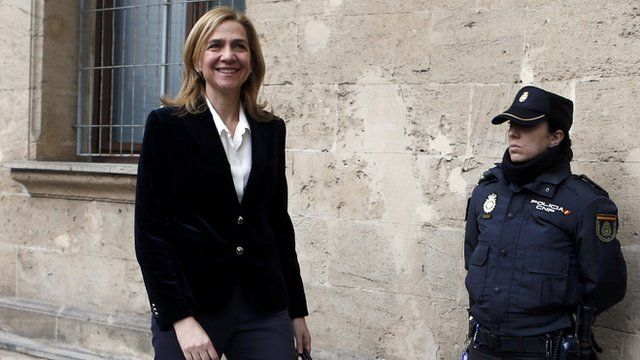Princess Cristina outside a Mallorcan court