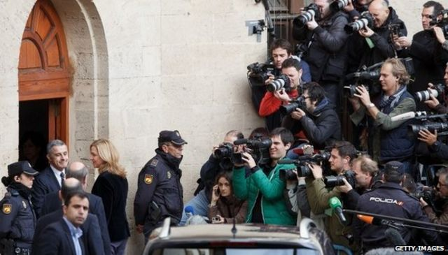 Spain's Princess Cristina in court over corruption case