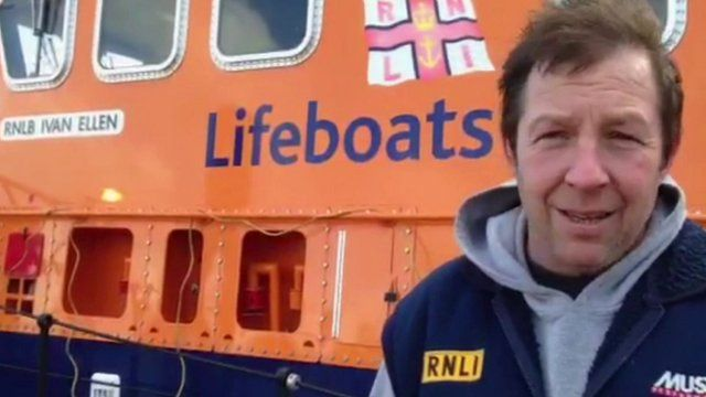 Patrick Harvey, coxswain of the RNLI Penlee lifeboat station