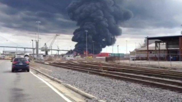 Fire at Port of Savannah