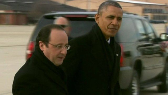President Francois Hollande with President Barack Obama