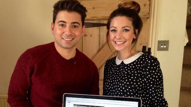 Ricky and vlogger Zoella