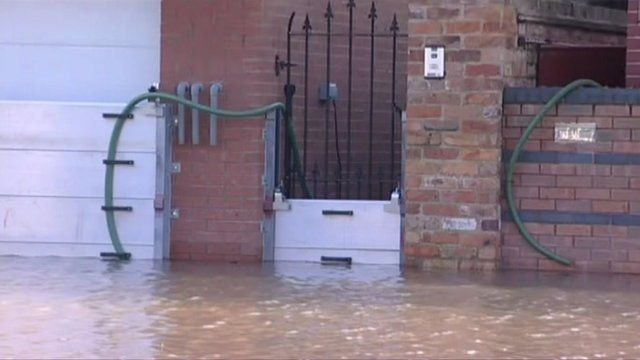 The floods in Worcester