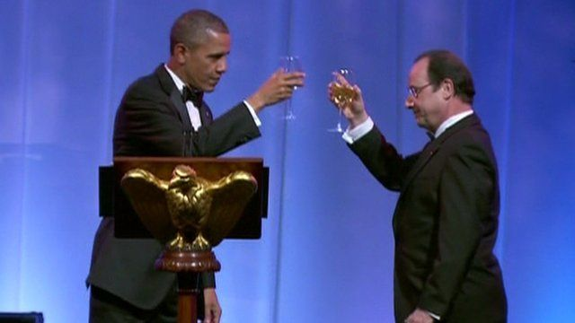 US President Barack Obama and French President Francois Hollande