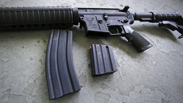 An AR-15 rifle