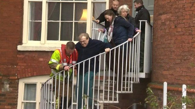 Residents being rescued in Worcester