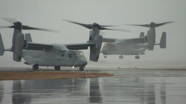 V-22 Osprey helicopters