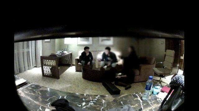Secret filming
