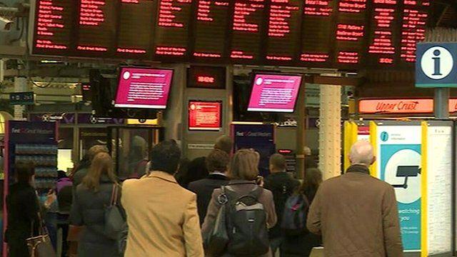 File photo of rail passengers