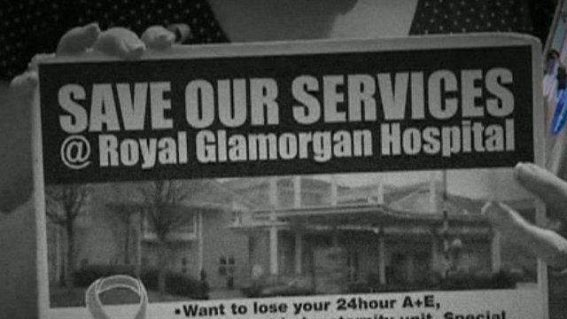 Protests against downgrading at Royal Glamorgan