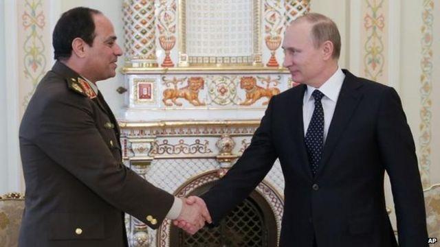 Putin backs Sisi 'bid for Egypt presidency'