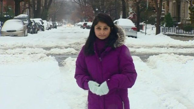 Rajini Vaidyanathan outside in Washington DC