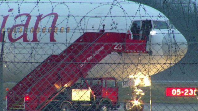 Ethiopian Airlines plane on tarmac in Geneva