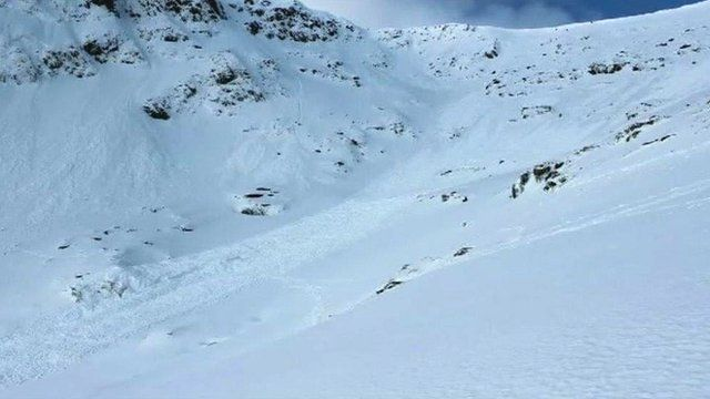Picture of avalanche area