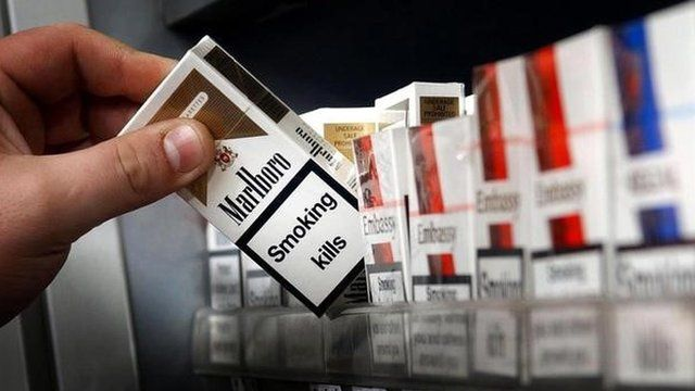 cigarettes on shelf