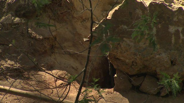 The body of an illegal miner was brought out of this hole