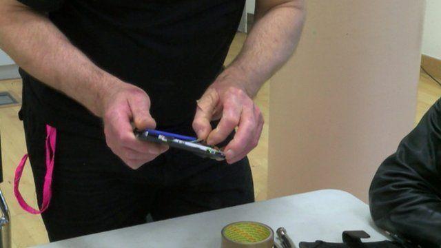 Man fixing an appliance