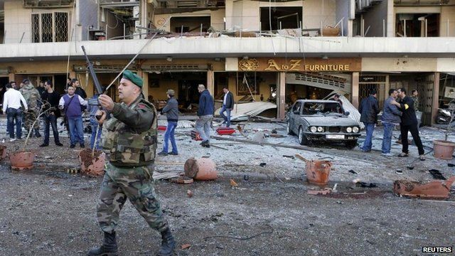 Soldier at site of blast